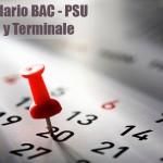 Calendario BAC - PSU