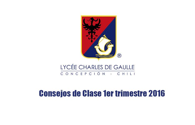 Consejos de clases 2016 1º trimestre