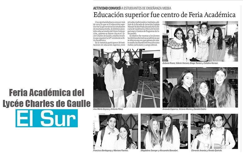 Feria academica en El Sur