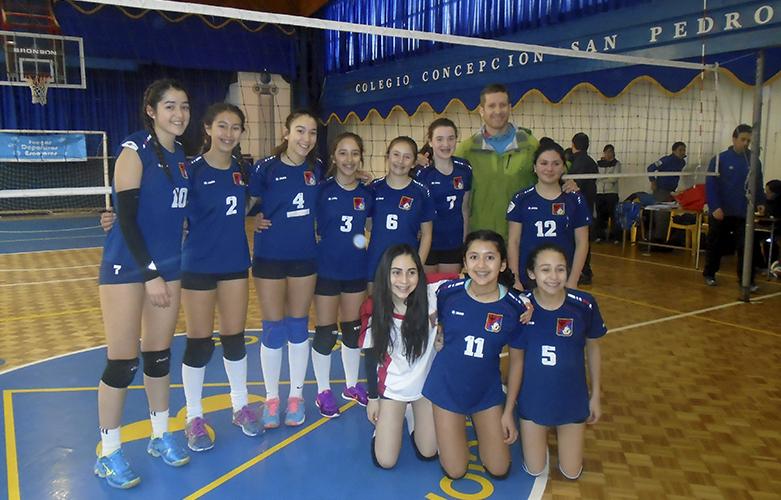 Ganadoras provincial 2016 Vóleibol