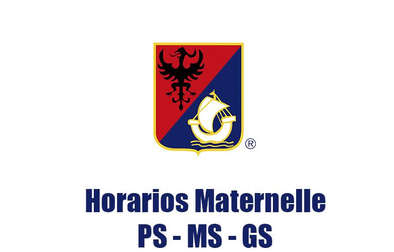 Horarios maternelle 2016