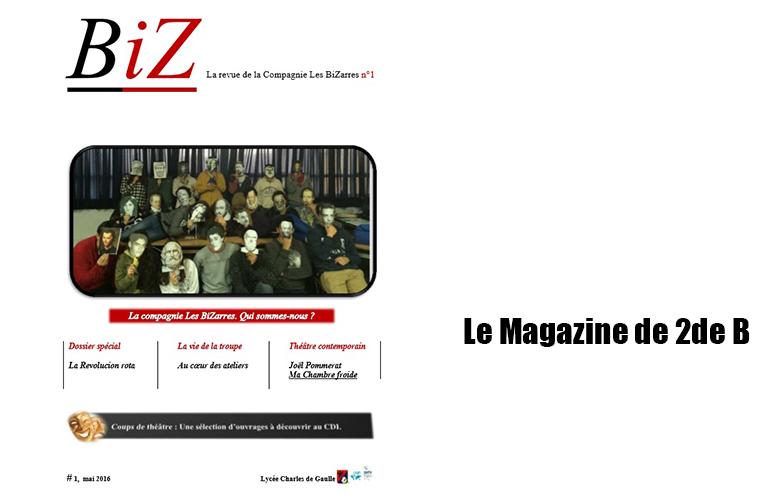 Le Magazine de 2de B