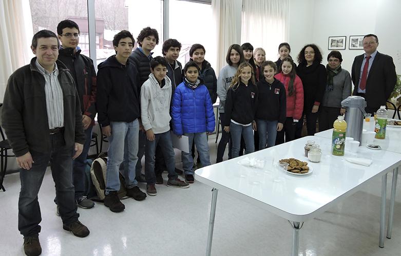 Recepción a alumnos olimpiadas matemáticas y exposés
