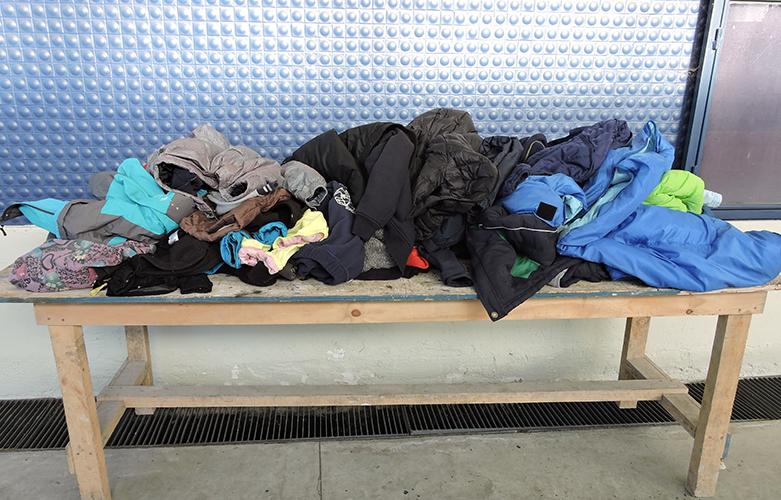Vestimentas encontradas en el colegio