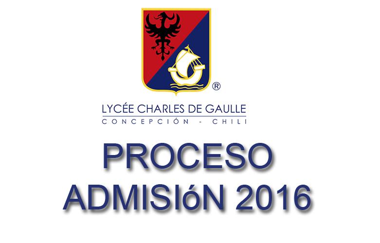 admisionn 2016