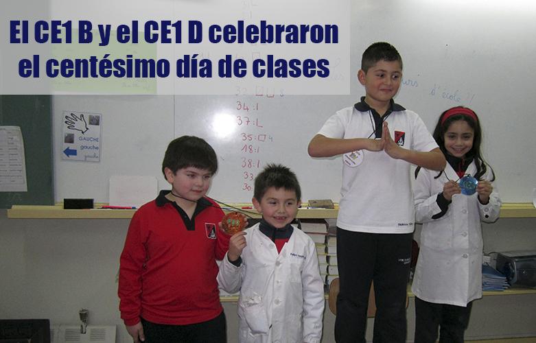 el CE1 B y el CE1 D celebraron el centésimo día de clases